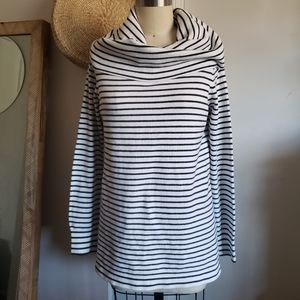 French Connection Striped Turtle Neck Sweater